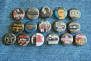 """Post Punk Industrial Goth Band Buttons Pins 80s Music 1"""" Badge Lot pinback SET"""