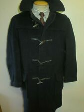 "Vintage Gloverall Wool Duffle Duffel Coat Raincoat M 40"" Euro 50 - Black"