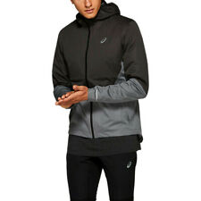Asics Mens Winter Accelerate Running Jacket Top - Black Grey Sports Full Zip