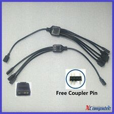 1-to-5 / 1-to-3 3Pin 5V ARGB Splitter Cable for ARGB Fan and Strip 30cm Black