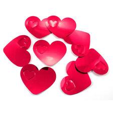 Konfetti Kunststoff XL 6x6cm rot Herzen