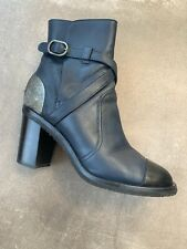 Chanel Boots Size 37.5 Blue/black