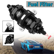 Universal Car Inline Fuel Filter E85 Ethanol w/ 100 Micron Inlet -6 AN / Outlet