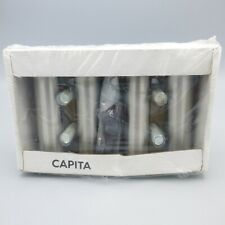 IKEA Capita Brushed Stainless Steel Furniture Cabinet Legs Set of 4 18612 4-3/8""