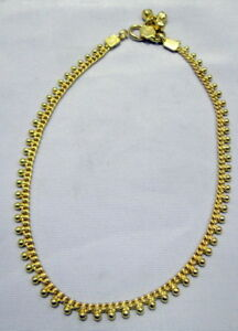 """22ct Solid Gold Anklet - Ankle Bracelet- 12 grams Fully Hallmarked & Boxed 10"""""""