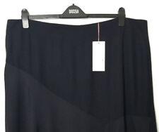 M&S Marks s24 PerUna Navy Blue Luxe Silky Bias Cut Asymmetric Hem Skirt BNWT