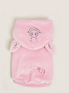 Marks & Spencer Percy Pig (Fancy Dress) Cute Dog Outfit Size Small New