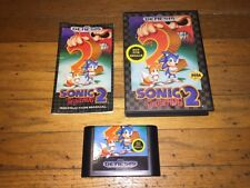 Sonic The Hedgehog 2 (Sega Genesis - Not For Resale) Complete in Case Vr Nice!
