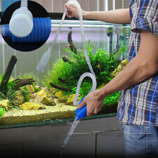 Aquarium Cleaning Vacuum Water Straw Filter Change Gravel Fish Tank Siphon Pump