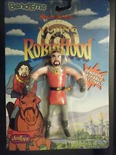 "JUSTOYS 1991 HANNA BARBERA NOTTINGHAM YOUNG ROBIN HOOD 5"" BENDM FIG NEW SEALED"