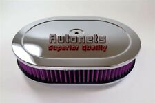"""12"""" Washable Filter Chrome Oval Breather Air Cleaner 4 BBL Mopar Ford Chevy SBC"""