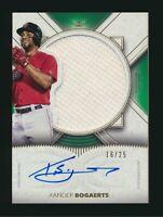 2021 Topps Definitive Autograph Auto Relic Xander Bogaerts ARC-XB 16/25 Red Sox