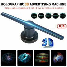 LED 3D Holographic Projector Display Advertising Hologram Player Lamp Fan Photos