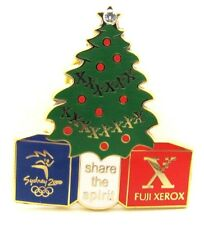CHRISTMAS TREE FUJI XEROX SPIRIT SYDNEY OLYMPIC GAMES 2000 PIN BADGE COLLECT #42
