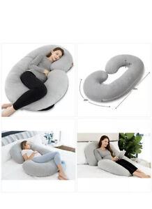 INSEN Pregnancy Pillow, Maternity Body Pillow for Pregnant Women,C Shaped Pillow