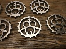 WarHammer Objective Markers - Chaos - Nurgle Cog - Stainless Steel - 30mm