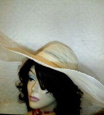 Aplastable Ala Ancha pura de color blanco Sombrero Talla 22 1 2