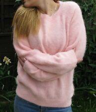 "Chic Sexy H&M Very Soft Fluffy Pink Angora Sweater Jumper>S>M>38"">£12.99"