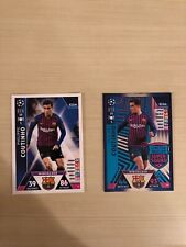 match attax 18/19 Philippe Coutinho Limited Edition SuperSquad LE8 and Base Mint