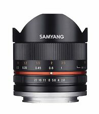 Samyang 8mm F2.8 II Fisheye Manual Focus Lens for Canon M in Black