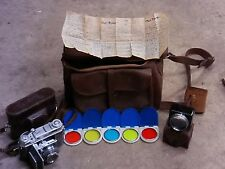 Vintage Kodak Retina 2a Type 35mm Rangefinder Film Camera/Case/Lens Filters