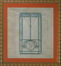 """Art Deco Door"" English Watercolour in Bamboo Frame!~"