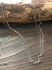 Sundance Passions Three Strand Sterling Silver Necklace