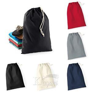 Westford Mill Cotton STUFF BAG Drawstring bag Laundry Bag Shoe Xmas Sack Storage
