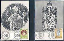 VATICAN CITY  MILLENIUM OF ST. STEPHEN SC#513/14  MAXIMUM CARDS  FD CANCEL