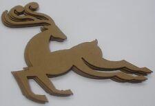 (4) ViNTAGE REINDEER - Chipboard Die Cuts - Bare Christmas Embellishments