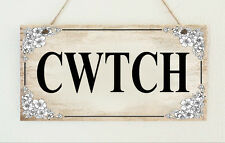 Hand Made Shabby Vintage Style Plaque Welsh CWTCH Wales Gift Sign Present Chic