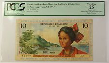 (1963) ND French Antilles 10 Nouveaux Francs Note SCWPM# 5a PCGS VF-25 Apparent