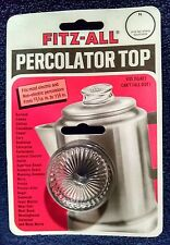 Set of 2 FITZ-ALL Glass Replacement Coffee Percolator Tops Pot (Model #135)