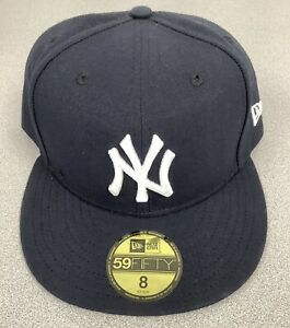 New York Yankees Baseball Hat New Era 59Fifty Fitted Cap 8 Unworn New With Tags