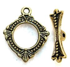 10Sets ORNATE Tibetan Antique Bronze Toggle Clasps Connectors Findings C236