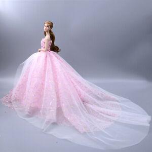 Barbie Doll Clothes Princess Trailing Wedding Dress Fantasy Toys Gift Ornaments