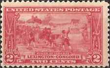 MH 1925 UNITED STATES Two 2 Cents Stamp LEXINGTON CONCORD Carmine 1775