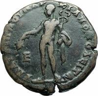 MACRINUS & SON DIADUMENIAN Ancient 217AD Marcianopolis Roman Coin HERMES i79162