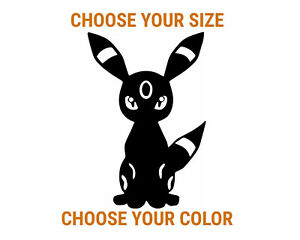 Umbreon Pokemon Game Freak Vinyl Sticker Car Window Bumper Laptop Decal Truck
