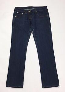 Gaudi jeans donna w30 tg 44 slim dritti donna vita bassa usato blu skinny T2580