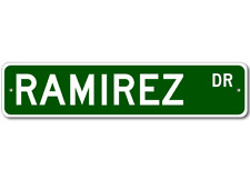 RAMIREZ Street Sign - Personalized Last Name Sign