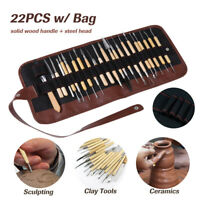 22PCS / Bag Multi-Purpose Pottery Clay Wax Ceramics Sculpt Carving Wood Tool