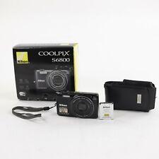 Nikon Coolpix S6800 16MP HD 1080p WiFi Black Camera