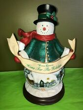 Thomas Kinkade Bradford Exchge Illuminated Snowman Home 4 the Holidays Christmas