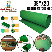 Turtle Reptiles Sleeping Carpet Mat Terrarium Bedding Warm Substrate Liner 39""