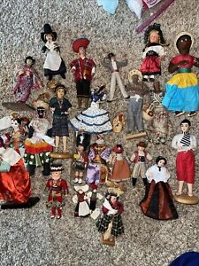 Large Lot Of Cultural Ethnic Dolls Souvenirs Travel