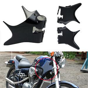 Frame Neck Cover Cowl ABS Plastic For Honda Shadow VT600 VLX 600 Black 1988-2007