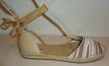 UGG Australia Size 7 LIBBI SERAPE Chestnut Espadrille Flats New Womens Shoes