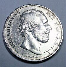 Niederlande 2 1/2 Gulden 1870 SILBER - König Wilhelm III (1849-1890) - vz / xf