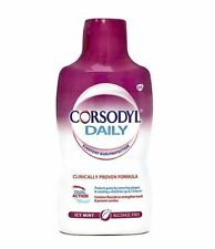 Corsodyl Diaria Icy Menta Enjuague Bucal 500ml - 3 Paquete